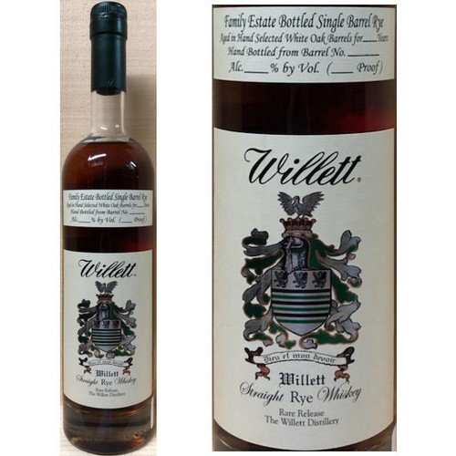 Willett Family Estate 6 Year Old Single Barrel Straight Rye Whiskey 750ml