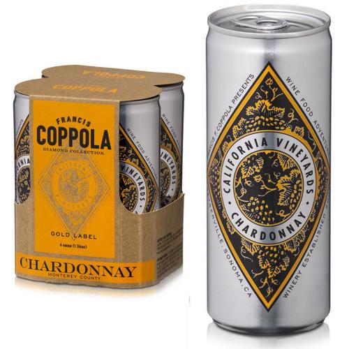 Francis Coppola Diamond Series Gold Label Monterey Chardonnay 4-Pack 250ml Cans