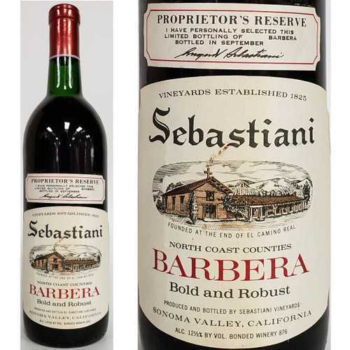 Sebastiani Proprietor's Reserve North Coast Counties Barbera
