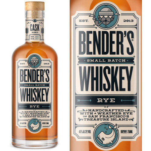 Bender's Small Batch Rye Whiskey 750ml