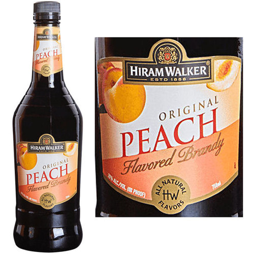 Hiram Walker Peach Flavored Brandy US 1L