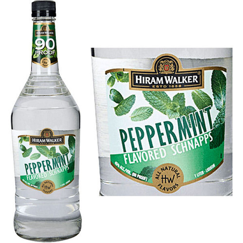 Hiram Walker Peppermint Flavored Schnapps 90 PROOF US 1L