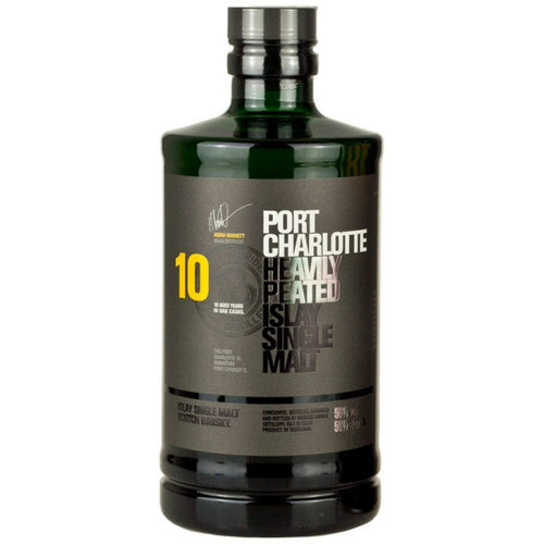 Bruichladdich Port Charlotte 10 Year Old Islay Single Malt Scotch 750ml