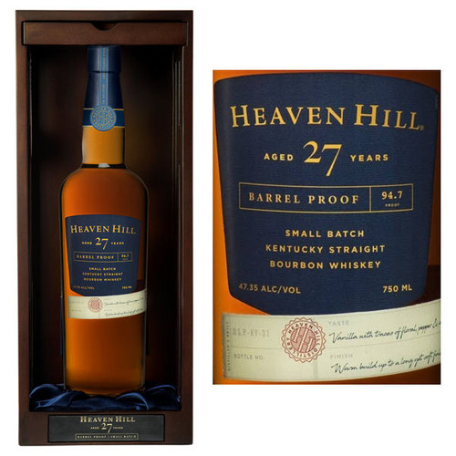 Heaven Hill 27 Year Old Kentucky Straight Bourbon Whiskey 750ml