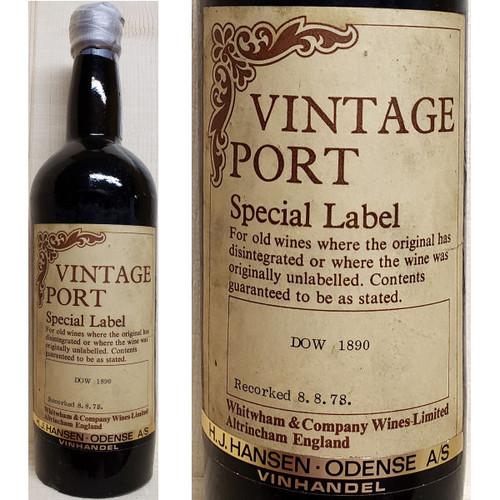Dow's Special Label Vintage Port
