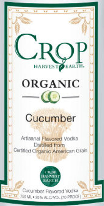 Crop Organic Cucumber Flavored Grain Vodka 750ML