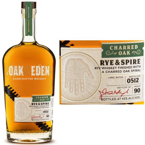 Oak & Eden Rye & Spire Charred Oak Finish Rye 750ml