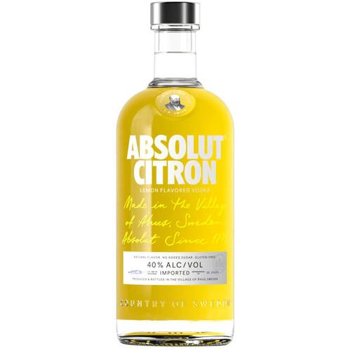 Absolut Citron Swedish Grain Vodka 750ml