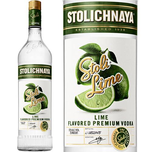Stolichnaya Lime Flavored Russian Vodka 750ml