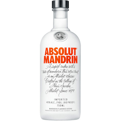 Absolut Mandrin Swedish Grain Vodka 750ml Rated 90-95