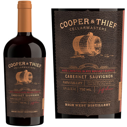 Cooper & Thief Rye Whiskey Barrel Aged Napa Cabernet