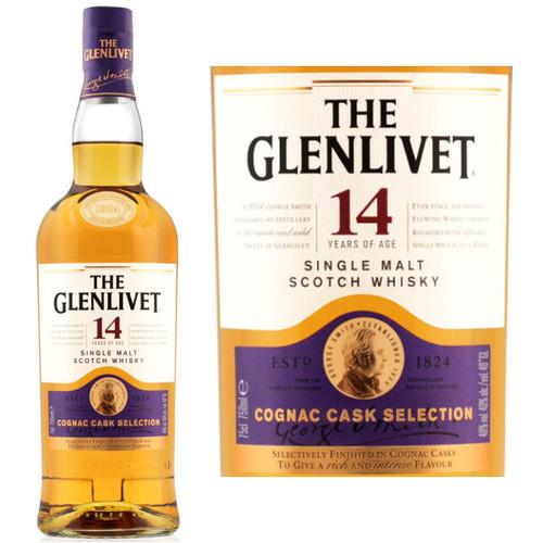 The Glenlivet 14 Year Old Cognac Cask Selection Single Malt Scotch 750ml