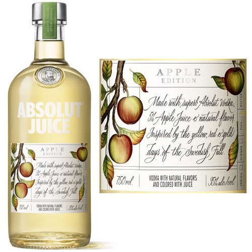 Absolut Juice Apple Edition Vodka 750ml