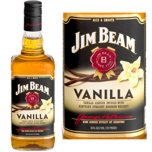 Jim Beam Vanilla Bourbon Liqueur 750ml
