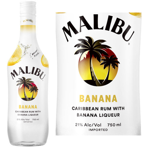 Malibu Banana Flavored Rum 750ml