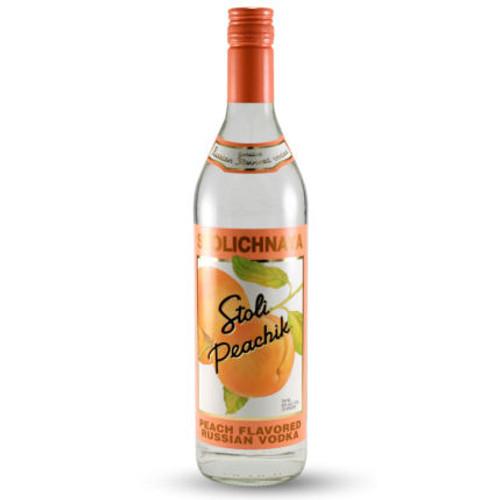 Stolichnaya Peachik Flavored Russian Vodka 750ml