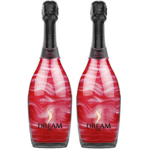 Dream Line Silver Rose Sparkling Wine NV (Spain) 2-Pack
