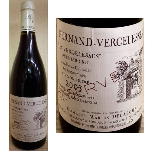 Domaine Marius Delarche Pernand-Vergelesses 1er Cru Les Vergelesses Reserve Red Burgundy