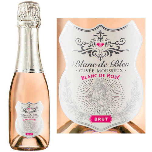 Blanc de Bleu Blanc de Rose Brut Sparkling NV 187ml is full and round with smooth flavors and fine persistent bubbles. The extra measure of Chardonnay contributes elegance and austerity
