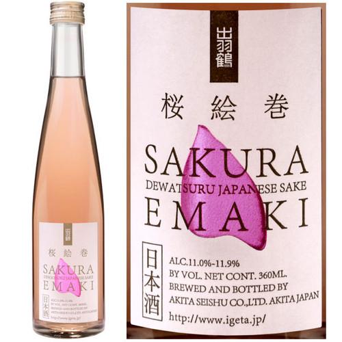 Dewatsuru Sakura Emaki Rose Sake 360ml