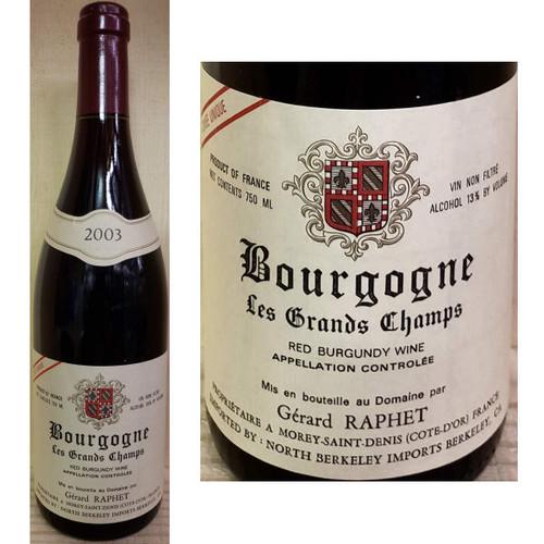 Gerard Raphet Bourgogne Les Grands Champs Red Burgundy