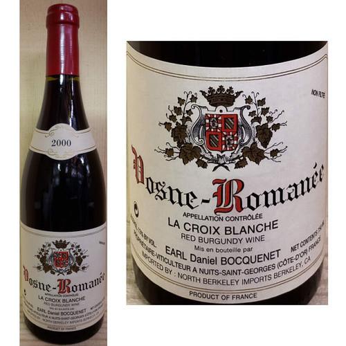 Earl Daniel Bocquenet Vosne-Romanee La Croix Blanche Red Burgundy