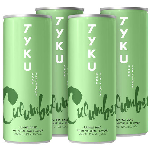 TYKU Cucumber Infused Junmai Sake 4-Pack Cans