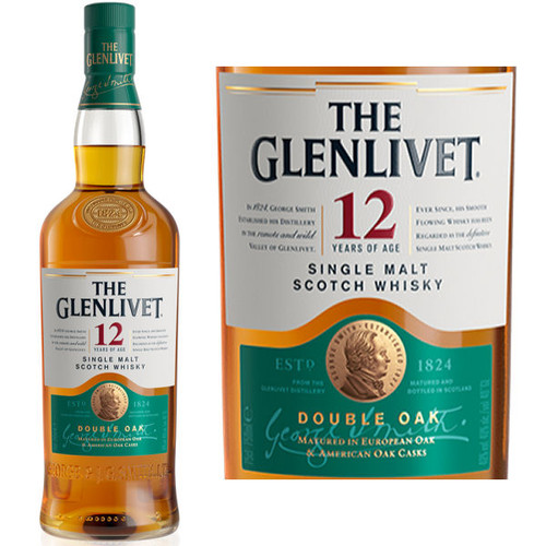 The Glenlivet 12 Year Old Double Oak Speyside 750ml