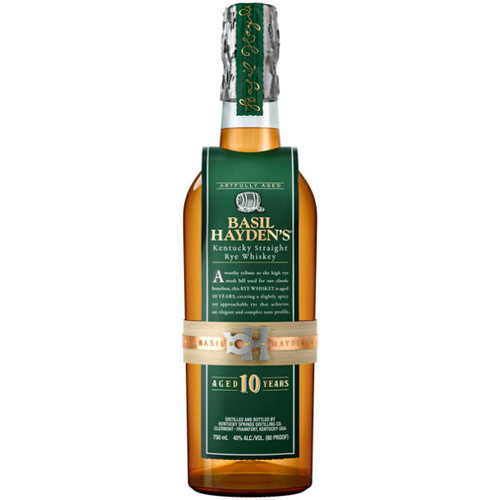Basil Hayden's 10 Year Old Kentucky Straight Rye Whiskey 750ml