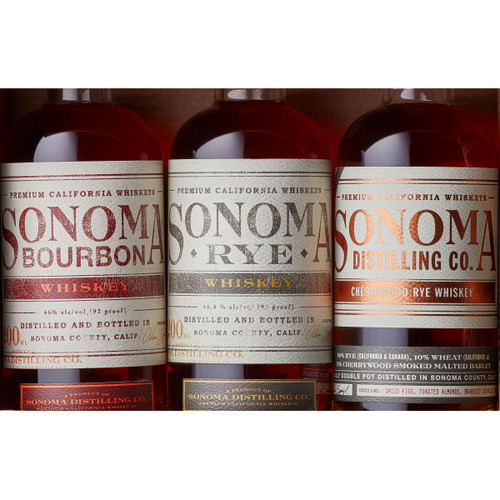Sonoma Distilling Whiskey Combo Pack 3-200ml Bottles