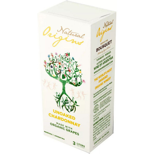 Domaine Bousquet Natural Origins Organic Unoaked Chardonnay Bag-In-Box