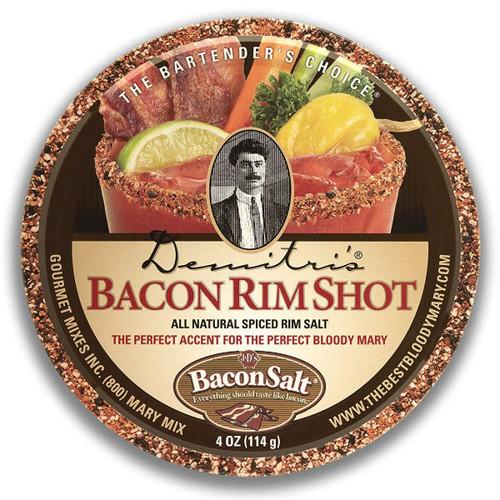 Demitri's Bacon RimShot Spiced Rim Salt 4oz
