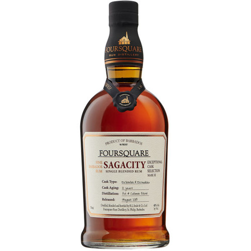 Foursquare 12 Year Old Sagacity Single Blended Barbados Rum 750ml
