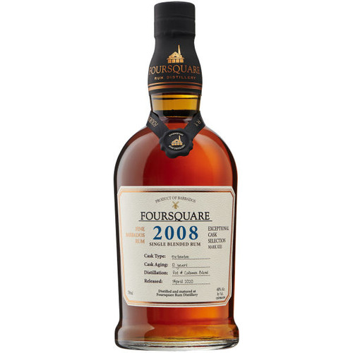 Foursquare 12 Year Old Single Blended Barbados Rum 2008 750ml