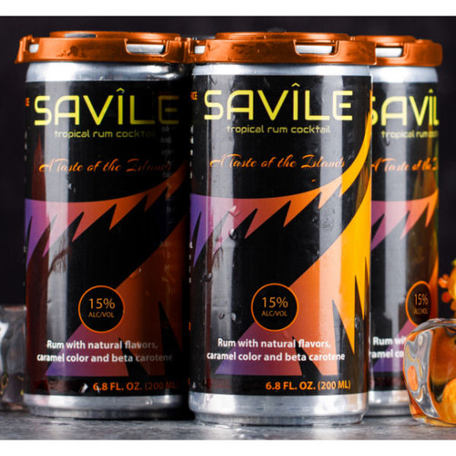 Savile Tropical Rum Cocktail 4-Pack Cans