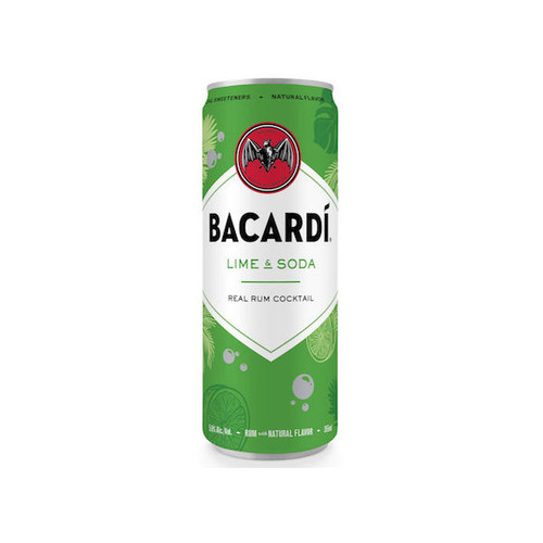 Bacardi Lime & Soda Ready To Drink Cocktail 355ml 4-Pack