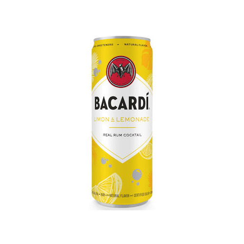 Bacardi Limon & Lemonade Ready To Drink Cocktail 355ml 4-Pack