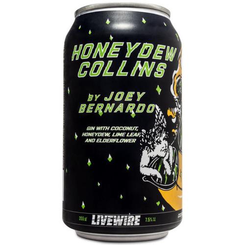 Livewire Honeydew Collins Cocktail 355ml 4-Pack