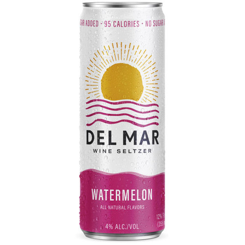 Del Mar Watermelon Wine Seltzer 12oz 4 Pack Cans