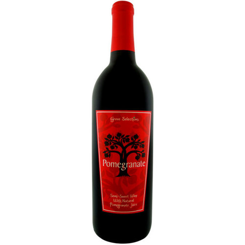 Grove Selections Semi-Sweet Pomegranate Wine NV