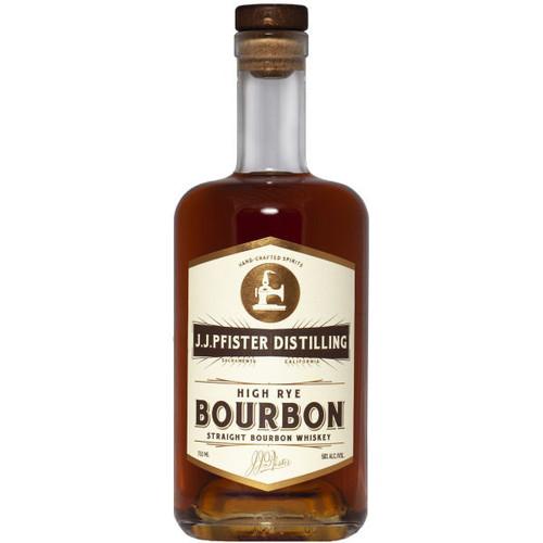 J.J. Pfister High Rye Bourbon Straight Bourbon Whiskey 750ml