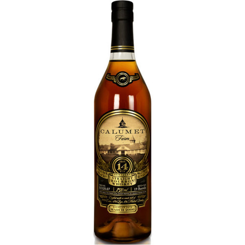 Calumet Farm Single Rack Black 14 Year Old Kentucky Straight Bourbon Whiskey 750ml