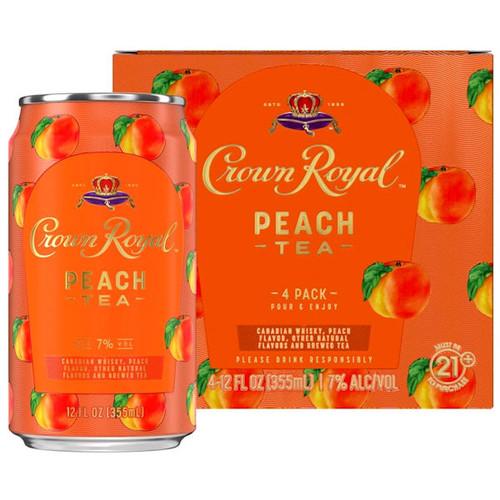 Crown Royal Peach Tea 4-Pack 12oz Cans
