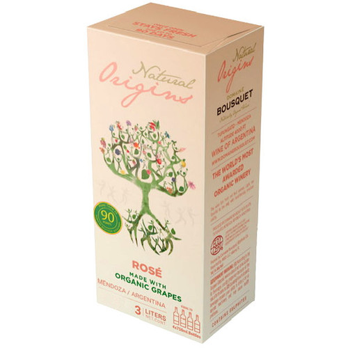 Domaine Bousquet Natural Origins Organic Rose Bag-In-Box 3L (Argentina)
