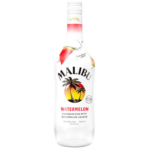 Malibu Watermelon Flavored Rum 750ml