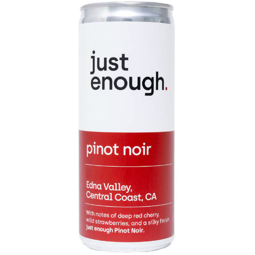 Just Enough Edna Valley Pinot Noir 250ml Can