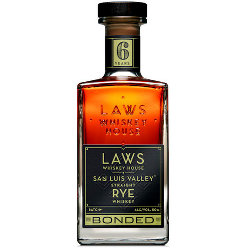 Laws Whiskey House San Luis Valley Bonded Straight Rye Whiskey 750ml