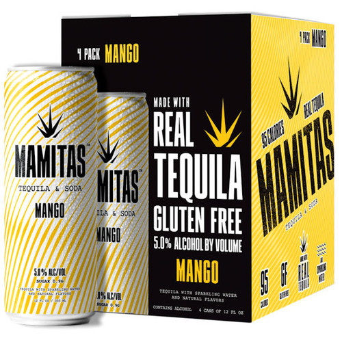 Mamitas Mango Tequila & Soda Ready To Drink 12oz 4 Pack Cans