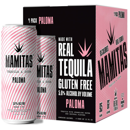 Mamitas Paloma Tequila & Soda Ready To Drink 12oz 4 Pack Cans