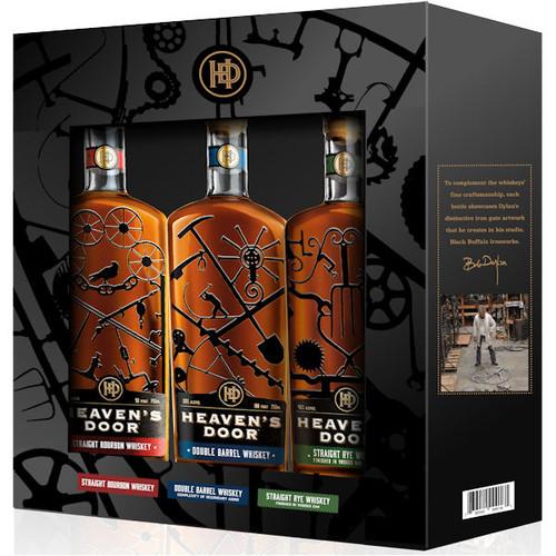 Heaven's Door Trilogy (Bourbon, Double Barrel & Rye) 3 Pack 200ml